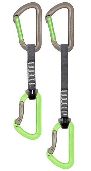 DMM Aero Quickdraw 12 cm/5 Pack Titanium/Apple Green